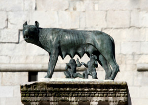 Capitoline Wolf suckling the twin founders of ROME
